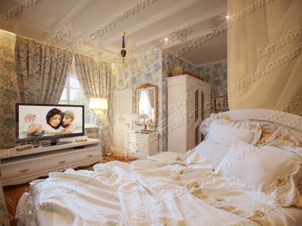 Дизайн интерьера спальня в стиле п